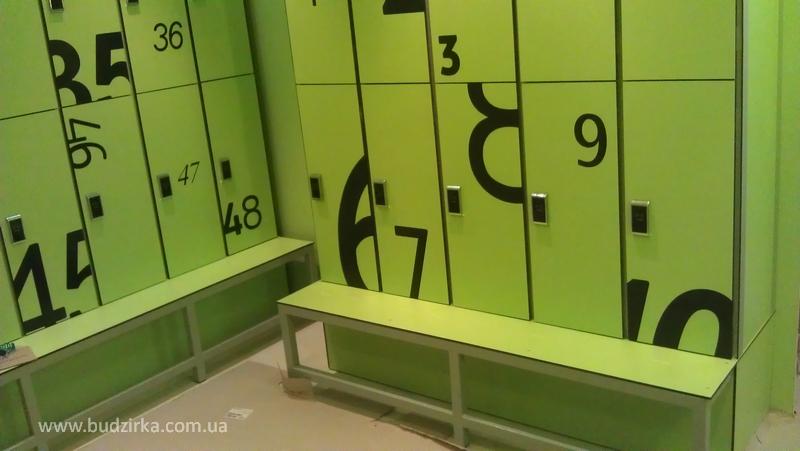 Шкафчики для раздевалок HPL FunderMax