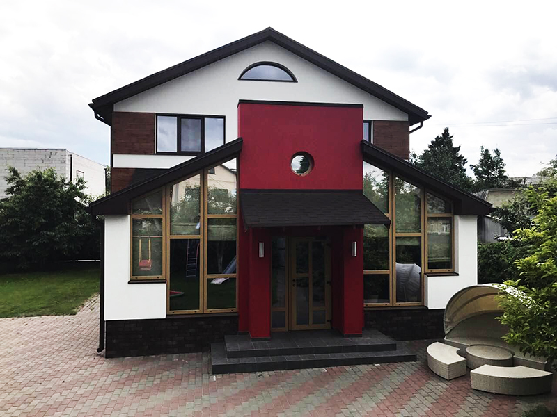 Частный дом с элементами Fundermax