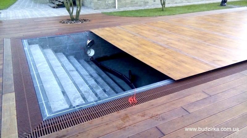 FunderMax hpl панели - накрытие для бассейна
