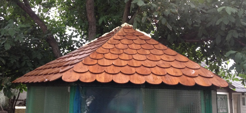 Крыша из FunderMax