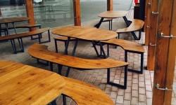 Автозаправка Okko. Столы, лавочки и урны FunderMax (hpl панели)