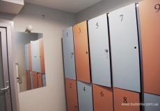 Локеры, шкафчики из hpl панелей FunderMax в New Boxing Studio
