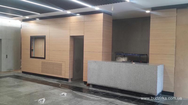 HPL панели FunderMax - обшивка стен в БЦ IRVA