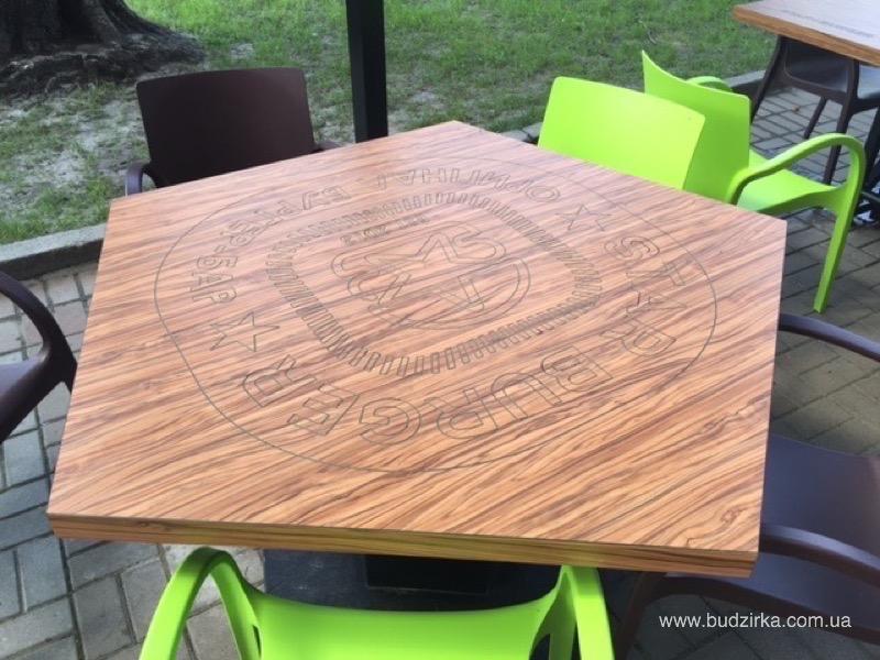 Star Burger - столы из hpl панелей FunderMax